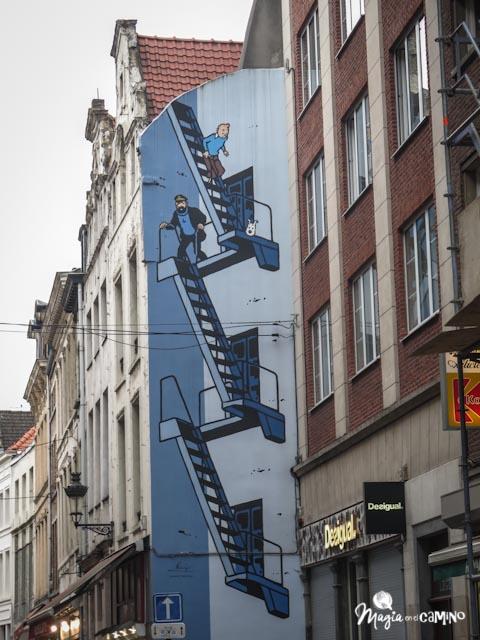 Mural de Tintín.
