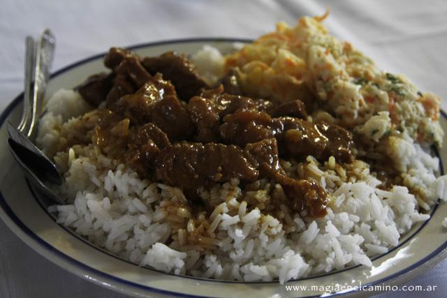 arroz,polloyensalada