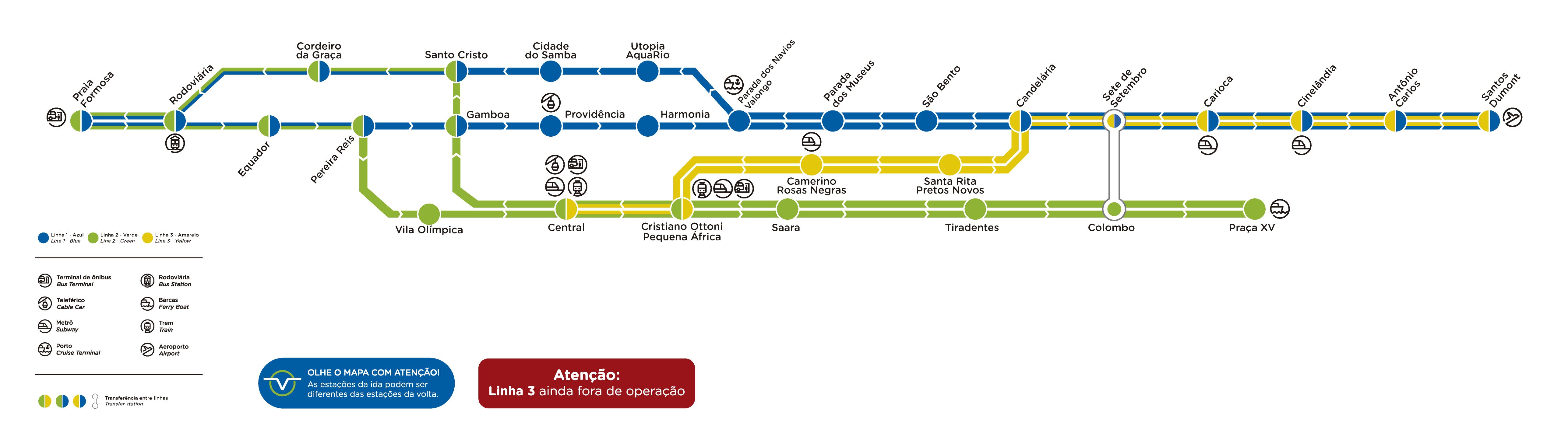 Mapa VLT Río de Janeiro